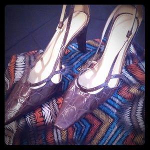 "Size 10 square toe 3.5"" pumps"
